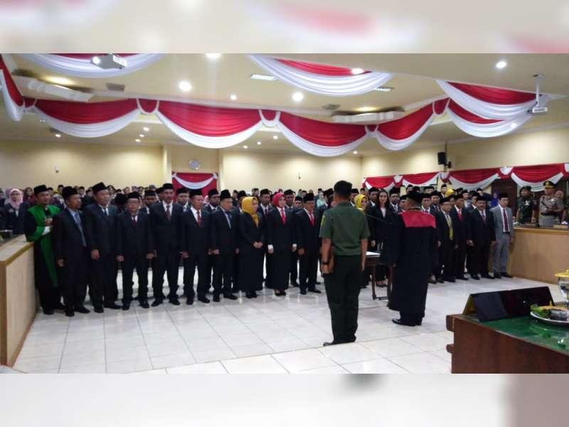 Anggota DPRD Kabupaten Bojonegoro Masa Jabatan 2019-2024, Dilantik