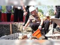 Kapolres Bojonegoro Laksanakan Peletakan Batu Pertama Pembangunan Polsek Dander