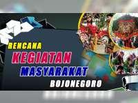 Rencana Kegiatan Masyarakat Bojonegoro 27 Agustus 2019