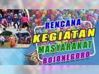 Rencana Kegiatan Masyarakat Bojonegoro 1 September 2019