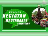 Rencana Kegiatan Masyarakat Bojonegoro 3 September 2019