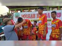 Kesebelasan Kecamatan Cepu Raih Medali Emas Porkab Blora 2019