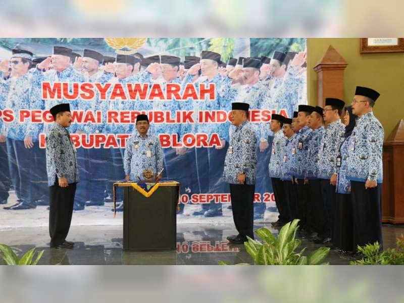 Sekda Blora Terpilih Menjadi Ketua KORPRI Kabupaten Blora Periode 2019-2024