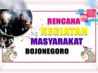 Rencana Kegiatan Masyarakat Bojonegoro 11 September 2019
