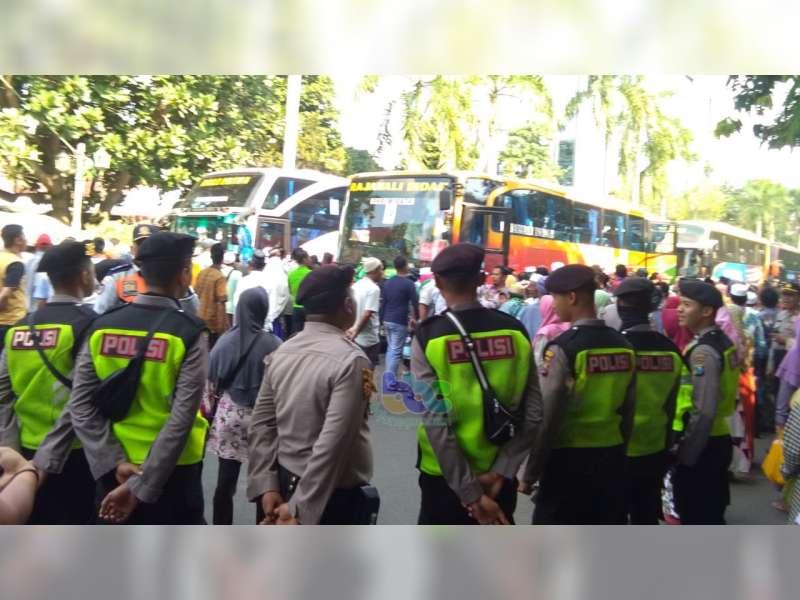 Polres Bojonegoro Terjunkan 218 Personel Untuk Pengamanan Kedatangan Jemaah Haji