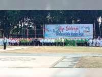 Wakil Bupati Pimpin Upacara Peringatan Haornas di Alun-Alun Bojonegoro