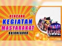 Rencana Kegiatan Masyarakat Bojonegoro 14 September 2019