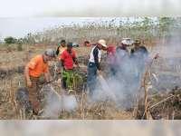 Antisipasi Kebakaran Hutan dan Lahan, Kapolres Bojonegoro Patroli di Kawasan Hutan