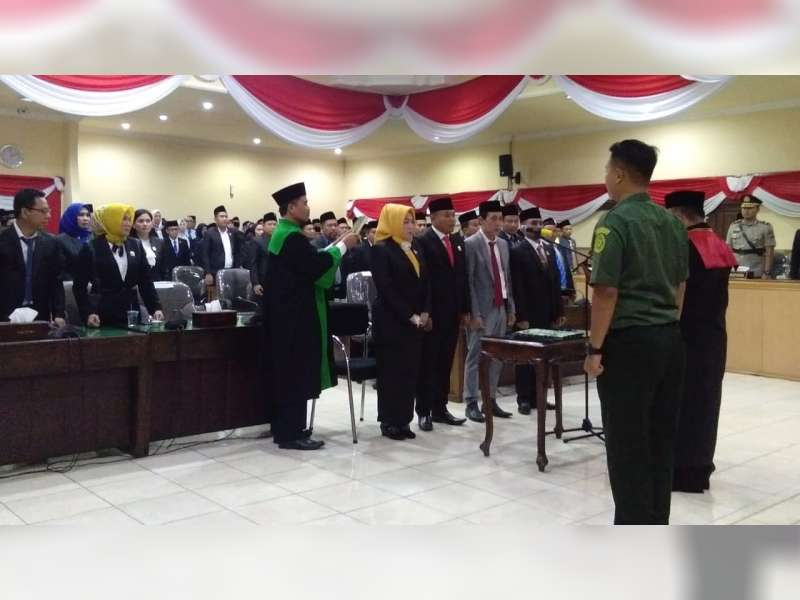 Pimpinan DPRD Kabupaten Bojonegoro Masa Jabatan 2019-2024, Dilantik