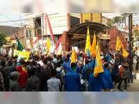 Mahasiswa Bojonegoro Gelar Aksi Solidaritas di Mapolres Bojonegoro