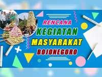 Rencana Kegiatan Masyarakat Bojonegoro 30 September 2019