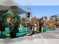 Baru Pertama Kali Digelar, Festival Bambu di Blora Berjalan Meriah