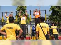 Jaga Stamina Anggota, Polres Bojonegoro Laksanakan Tes Kesamaptaan Jasmani
