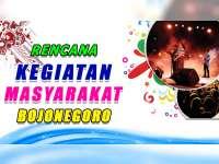 Rencana Kegiatan Masyarakat Bojonegoro 10 Oktober 2019