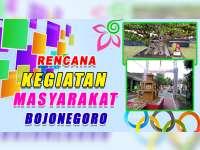 Rencana Kegiatan Masyarakat Bojonegoro 11 Oktober 2019