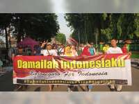 Masyarakat Bojonegoro Cinta Damai Gelar Aksi 'Damailah Indonesiaku, Bojonegoro Untuk Indonesia'