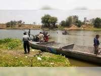 Aparat Gabungan di Padangan Bojonegoro Adakan Operasi Penertiban Sedot Pasir Bengawan Solo