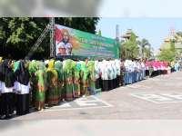 Ribuan Santri di Blora Meriahkan Peringatan Hari Santri Nasional 2019