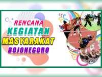 Rencana Kegiatan Masyarakat Bojonegoro 24 Oktober 2019