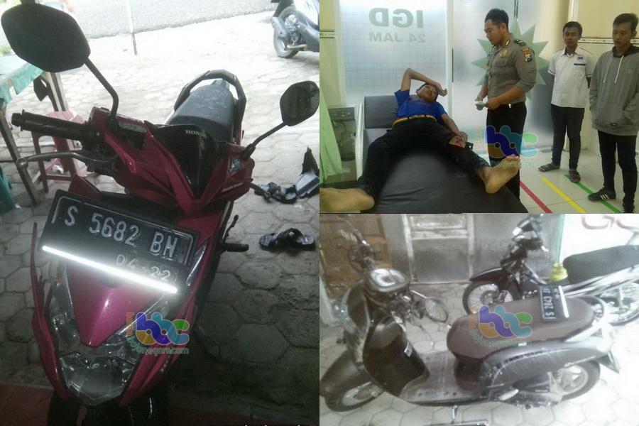 Honda Scoopy Seruduk Honda Beat Di Malo Seorang Pembonceng Luka Berat Beritabojonegoro Com