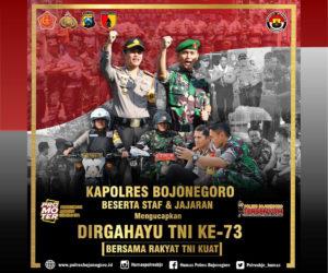 Polres Bojonegoro untk HUT TNI ke-73
