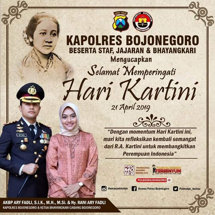 Polres Bojonegoro - Selamat Hari Kartini 2019