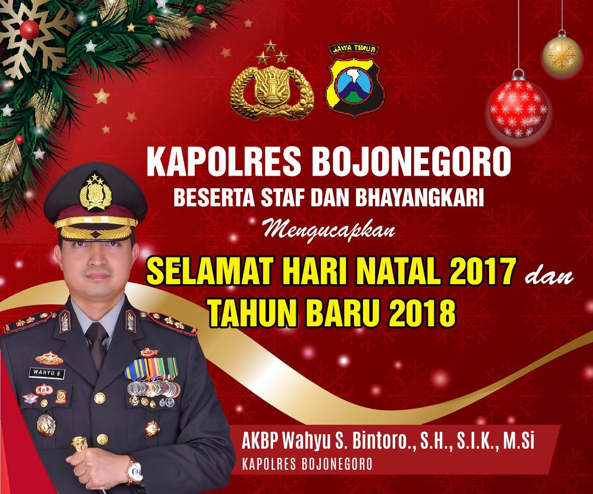 Polres Bojonegoro - Natal 2017 dan Tahun Baru 2018
